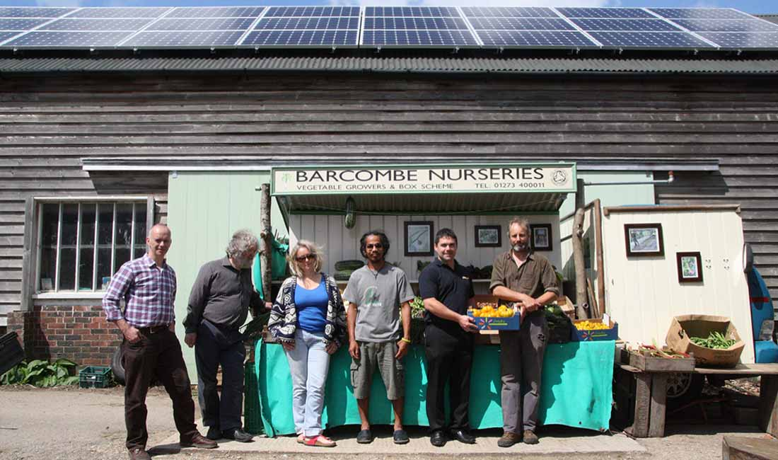 Barcombe Nurserys Solar Panels OVESCO Community Energy image