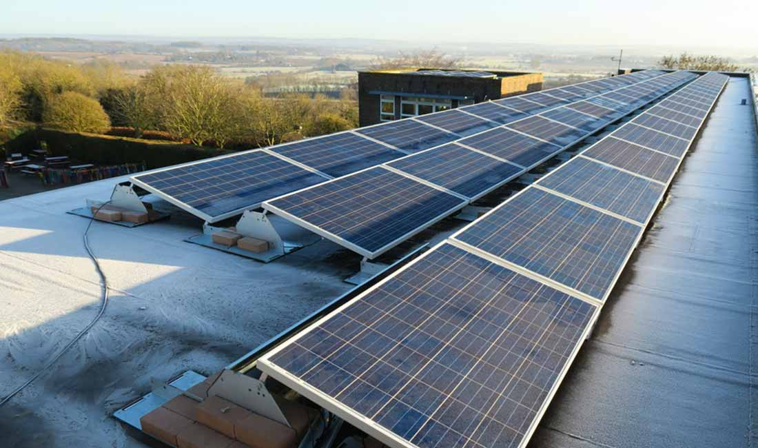 Wallands CP Primary School PV Panels OVESCO Solar Energy Lewes image